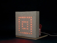 prototype concrete LED block